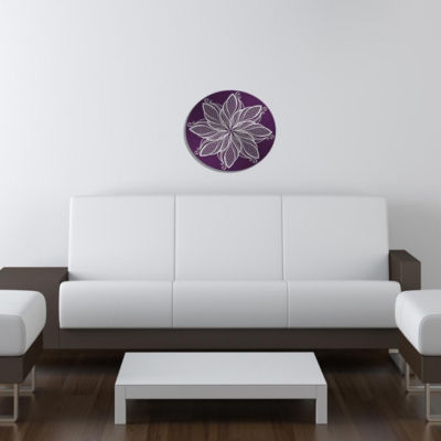 "Metal Wall Art Decor Pirouette 24"" Round"""