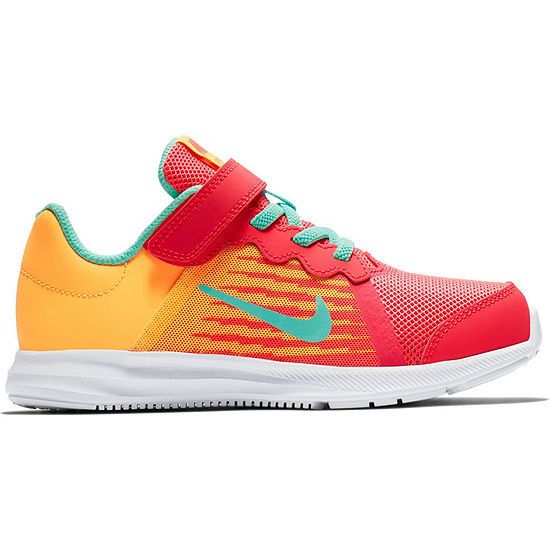 Nike Downshifter 8 Fade Little Kids Girls Pull On Running Shoes