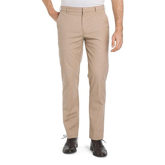 Van Heusen Flex Oxford Chino Mens Straight Fit Flat Front Pant
