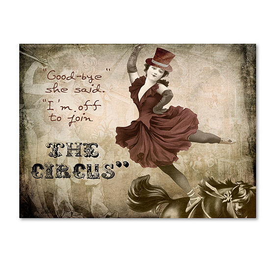 Trademark Fine Art Color Bakery Join The Circus Giclee Canvas Art