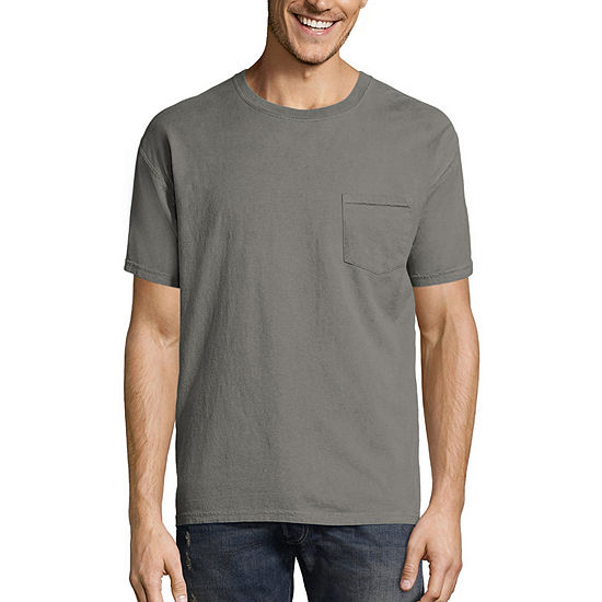 Hanes Men's ComfortWash Garment-Dyed Short Sleeve Tee with Pocket