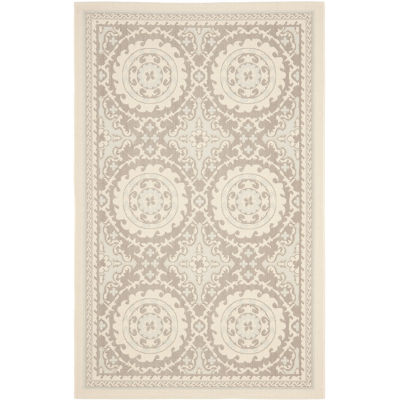 Safavieh Courtyard Collection Roza Geometric Indoor/Outdoor Area Rug