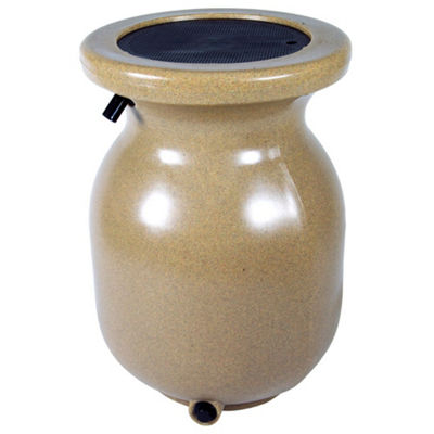 Koolatron 50-Gallon Sandstone Look Decorative Rain Barrel