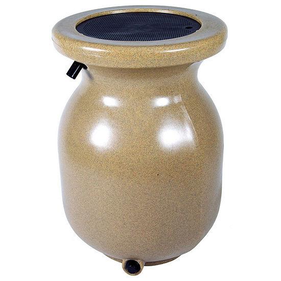 Koolatron 50-Gallon Sandstone Look Decorative Rain Barrel