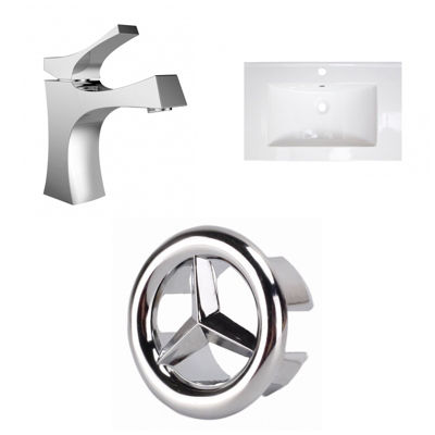 24-in. W 1 Hole Ceramic Top Set In White Color - CUPC Faucet Incl.
