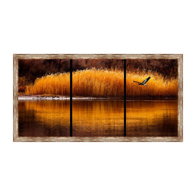 Golden Times Framed Canvas Art
