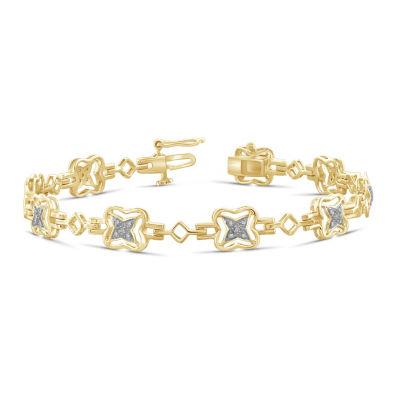 14K Gold Over Brass 7.25 Inch Solid Round Link Bracelet