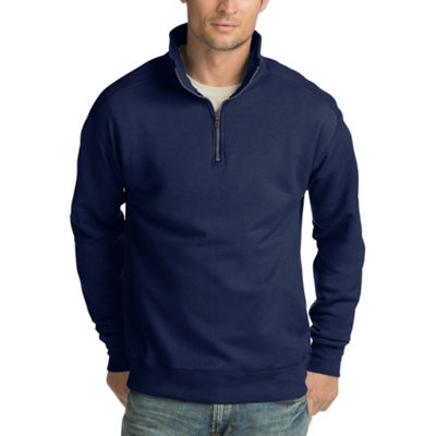 Hanes Long Sleeve Fleece Quarter Zip Pullover