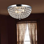 Elegant Designs 2 Light Elipse Crystal Flush Mount Ceiling Light
