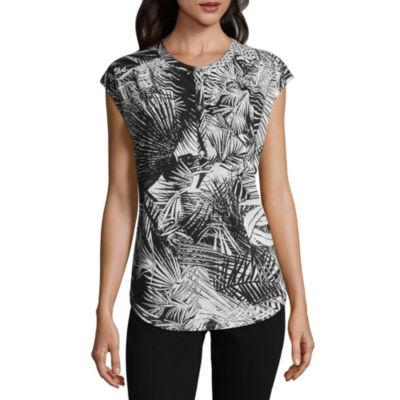 Liz Claiborne Dolman Sleeve Henley T-Shirt