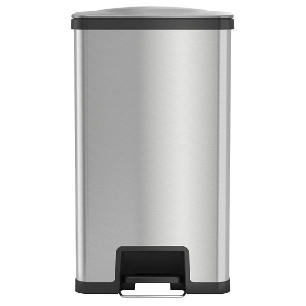 Airstep 18 Gallon Step On Kitchen Trash Can Stainless Steel Odor Control System