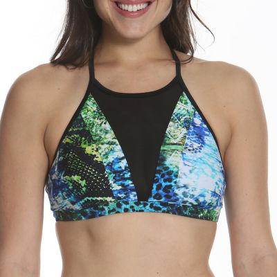 Sun and Sea Animal Attraction High Neck Bikini Top