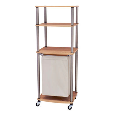 Household Essentials Rolling Laundry Hamper Storage Cart