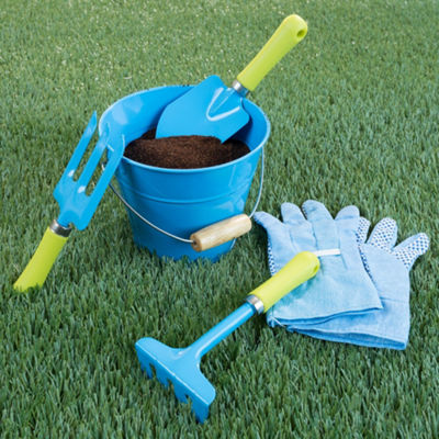 Hey! Play! Kid's Garden Tool Set with Bucket