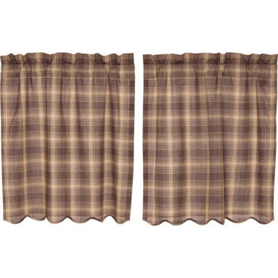Rustic & Lodge Window Dawson Star Scalloped Tier Pair