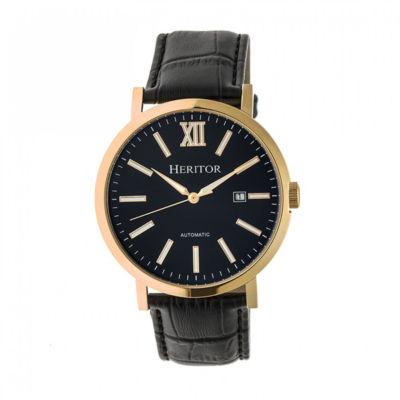 Heritor Bristol Mens Black Strap Watch-Herhr5308