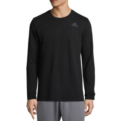 adidas Mens Crew Neck Long Sleeve T-Shirt
