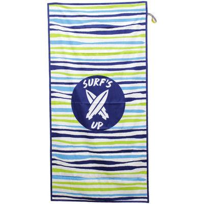 Beachtech High Performance Wavy Stripe Beach Towel with Pocket