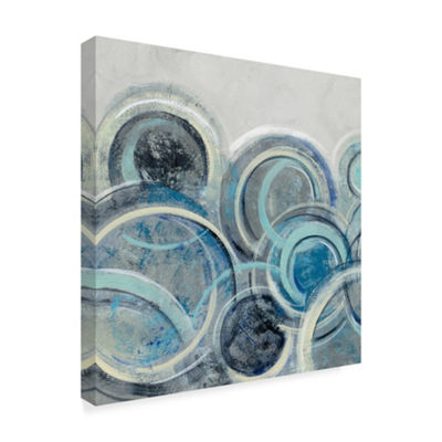 Trademark Fine Art Silvia Vassileva Variation BlueGrey II Giclee Canvas Art