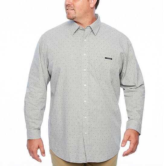 U.S. Polo Assn. Big and Tall Mens Long Sleeve Plaid Button-Front Shirt