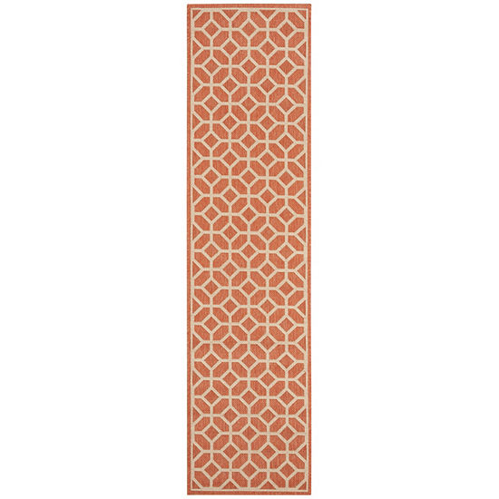 Safavieh Linden Collection Cecil Geometric Runner Rug