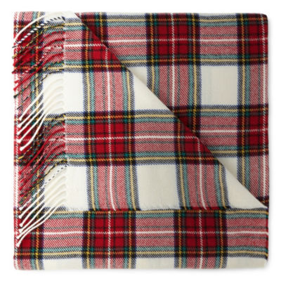 Peyton & Parker Woven Plaid Fringed Throw