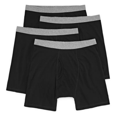 Stafford 4 Pair Blended Cotton Boxer Briefs - Men's