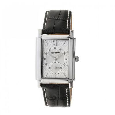 Heritor Frederick Mens Black Strap Watch-Herhr6101