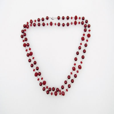 Vieste Rosa Womens Brass Rosary Necklaces