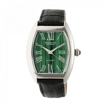 Heritor Baron Mens Black Strap Watch-Herhr6003
