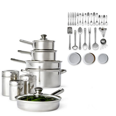 Cooks 52-PC. Stainless Steel Cookware Set