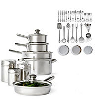 Cooks 52-Pieces Stainless Steel Cookware Set