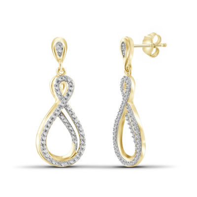 Diamond Accent White Diamond Round Earring Jackets