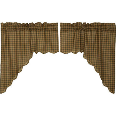Rustic & Lodge Window Barrington Scalloped Swag Pair
