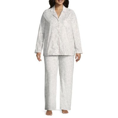 Adonna Microfiber Notch Collar Pajama Set- Plus
