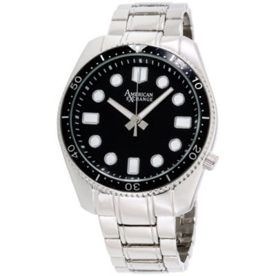 Womens Silver Tone Bracelet Watch-Am4024s50-058