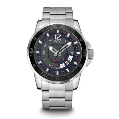 Esq Mens Silver Tone Bracelet Watch-37esq005001a