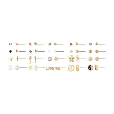 Decree Multi Color 10mm Stud Earrings