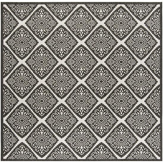 Safavieh Linden Collection Raymond Geometric Square Area Rug