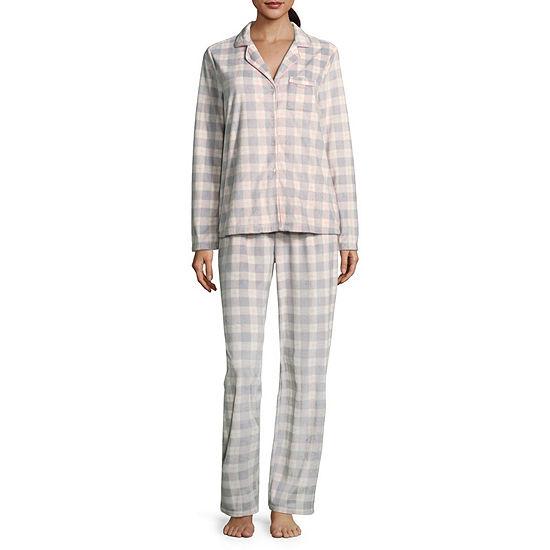 Adonna Microfiber Notch Collar Pajama Set