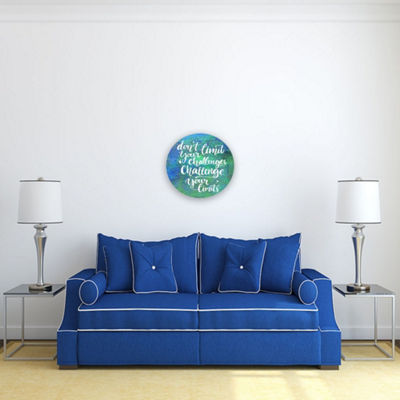 Motivational Wall Art Challenge Your Limits 16-inch Round