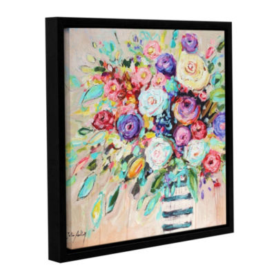 Vibrant Bouquet Floater-Framed Gallery Wrapped Canvas