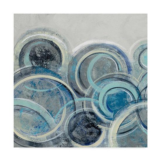 Trademark Fine Art Silvia Vassileva Variation Blue Grey II Giclee Canvas Art
