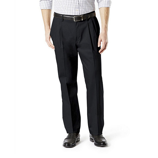 Dockers® Men's Classic Fit Signature Khaki Lux Cotton Stretch Pleated Pants