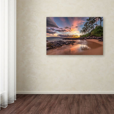 Trademark Fine Art Pierre Leclerc Hawaiian SunsetWonder Giclee Canvas Art