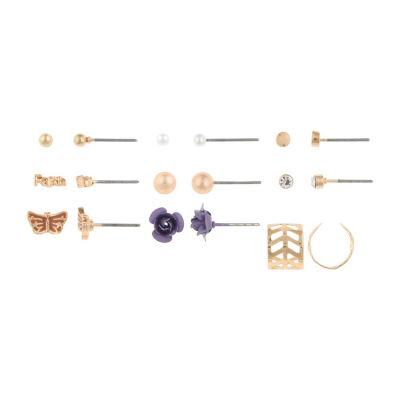 Decree Clear 7mm Stud Earrings