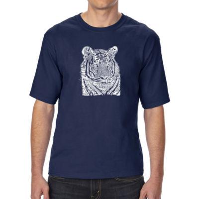 Los Angeles Pop Art Boy's Raglan Baseball Word Art T-shirt - California State