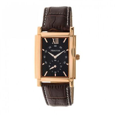 Heritor Frederick Mens Black Strap Watch-Herhr6105