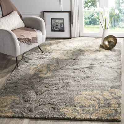 Safavieh Shag Collection Eric Geometric Square Area Rug