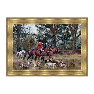 Foxhunt Framed Canvas Art